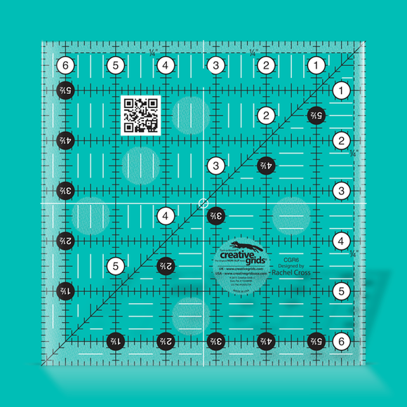 Creative Grids Ruler 6.5 Square CGR6