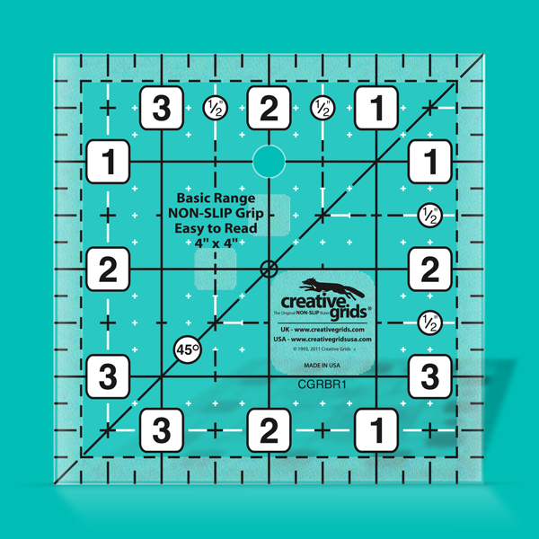 4 by 4 Creative Grids Ruler Square CGRBR1