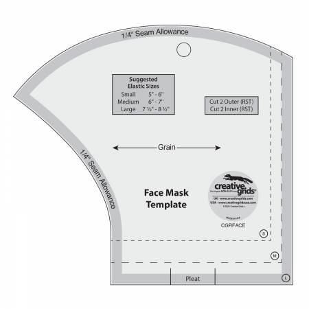 Creative Grids Face Mask Template # CGRFACE