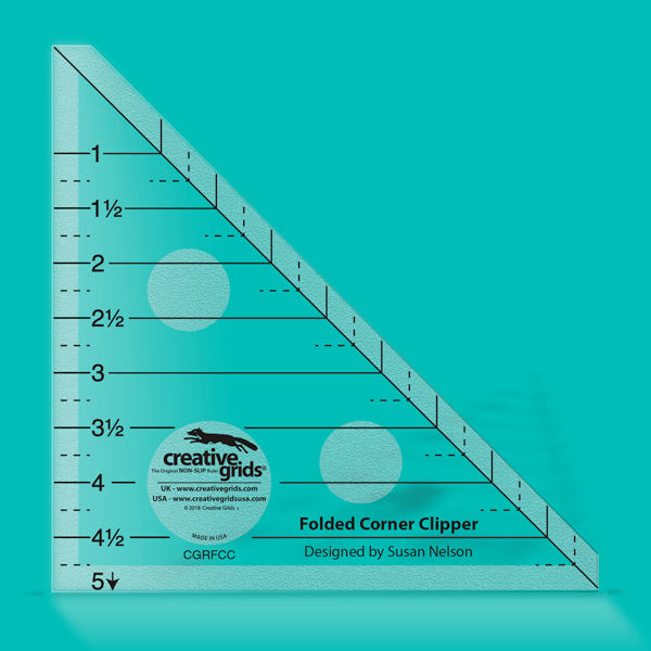 Creative Grids Ruler Folded Corner Clipper CGRFCC