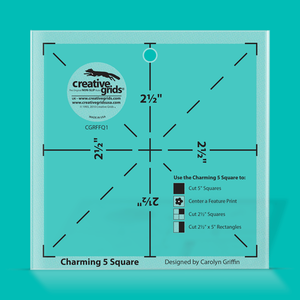 Creative Grids Ruler Charming 5 Square CGRFFQ1