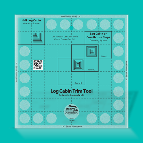 Creative Grids Ruler 8 inch Log Cabin Trim Tool CGRJAW1