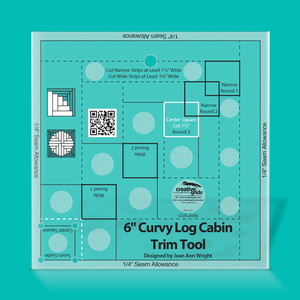 "Creative Grids Ruler 6"" Curvy Log Cabin CGRJAW6"