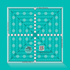 Creative Grids Square it Up and Fussy Cut Ruler 8.5 inch CGRSQ8