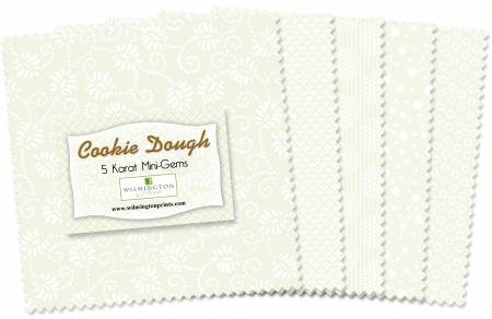 Wilmington Prints 5 inch Squares Cookie Dough 24pcs/bundle  # Q505-15-505