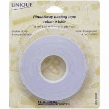 Rinse Away basting tape