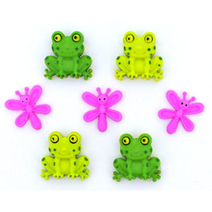 Dress It Up - Happy Frogs Buttons