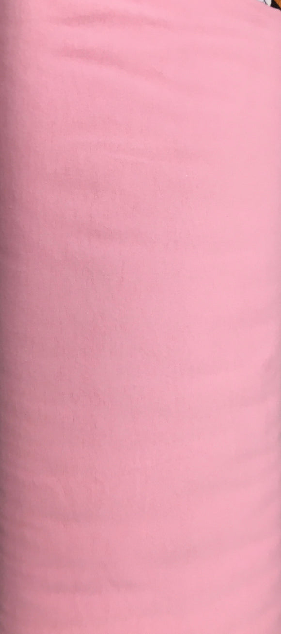 David Textiles Solid Pink Flannel