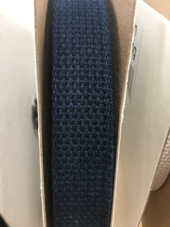 100% Cotton Webbing Navy