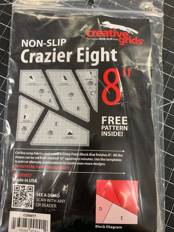 Creative Grids Ruler Scrap Crazy 8 inch CGRMT7