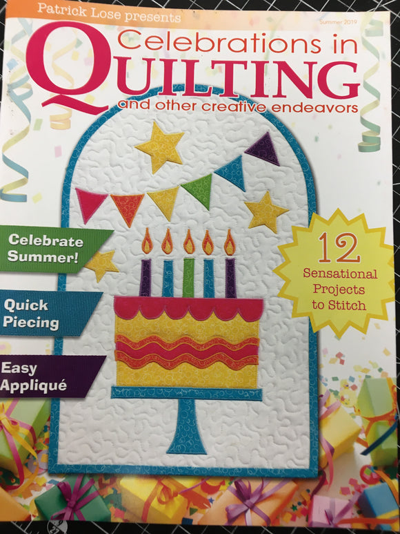 Patrick Lose Celebrations in Quilting Summer 2019