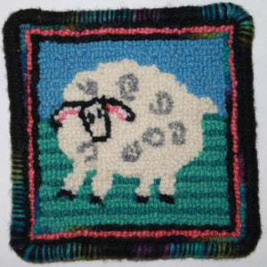 Rug Hooking Kit - Sheep Coaster
