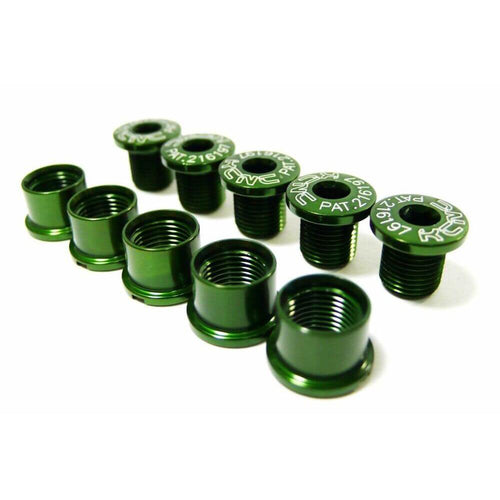 KCNC Chainring Bolts Set Road - Green
