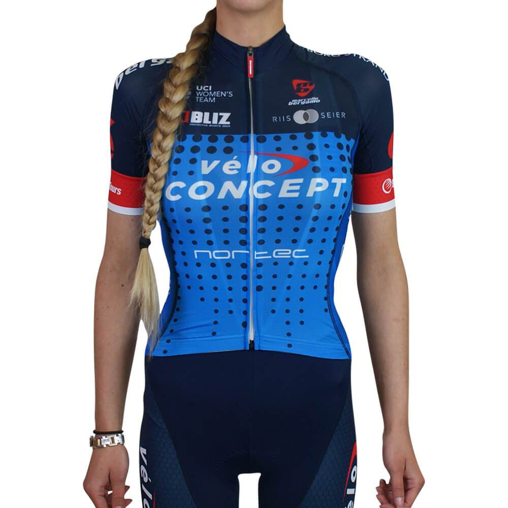 Woman race jersey - veloconcept - marcello bergamo - pro team cheap cycling clothes