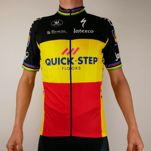 Short Sleeve Jersey - Podium - Quick Step Floors - Belgian Champion