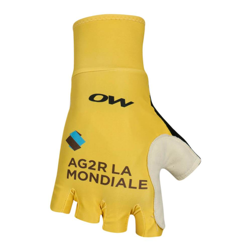Summer gloves - AG2R La Mondiale - yellow edition