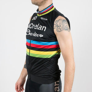 "Wind Vest Black ""World Champion - W. Van Aert"" - Veranda's Willems Crelan"