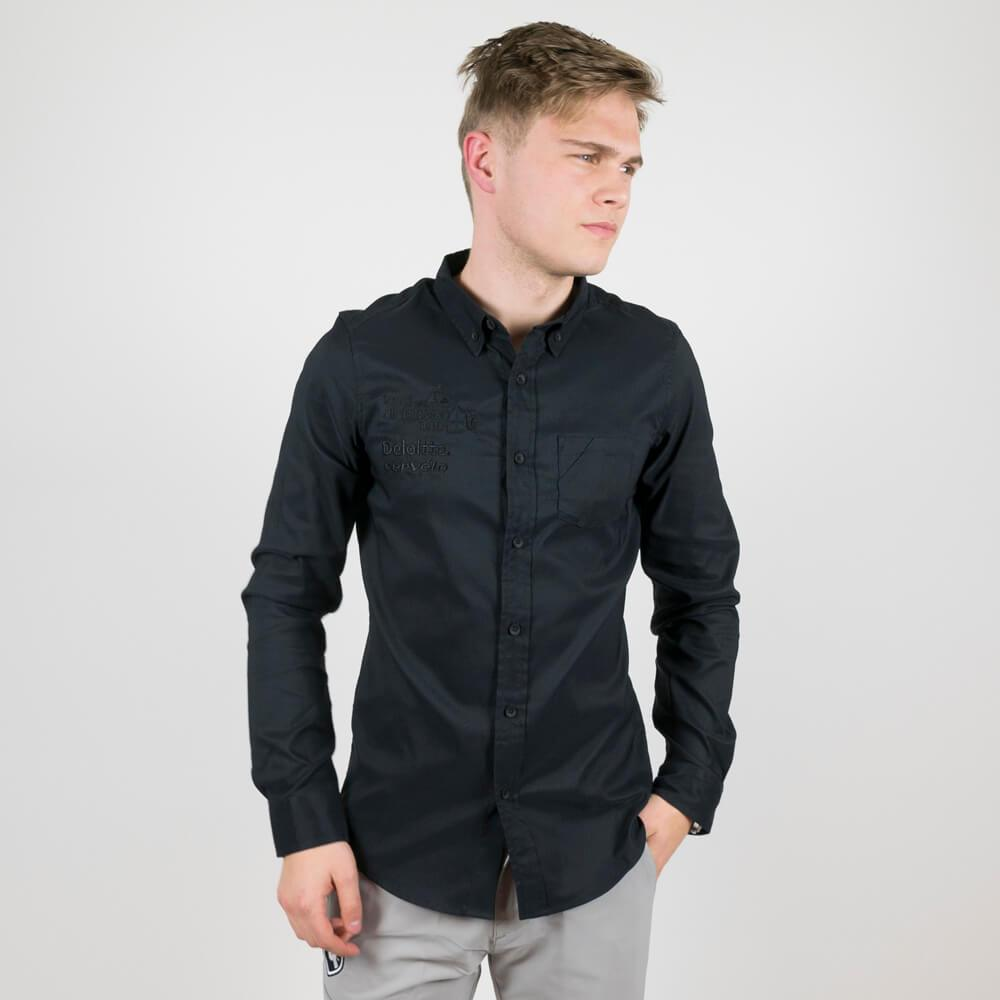 Oakley LS Solid Woven Shirt Blackout - Dimension Data