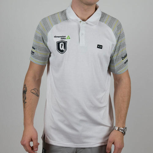 Oakley Golf Headliner Polo Shirt White - Dimension Data