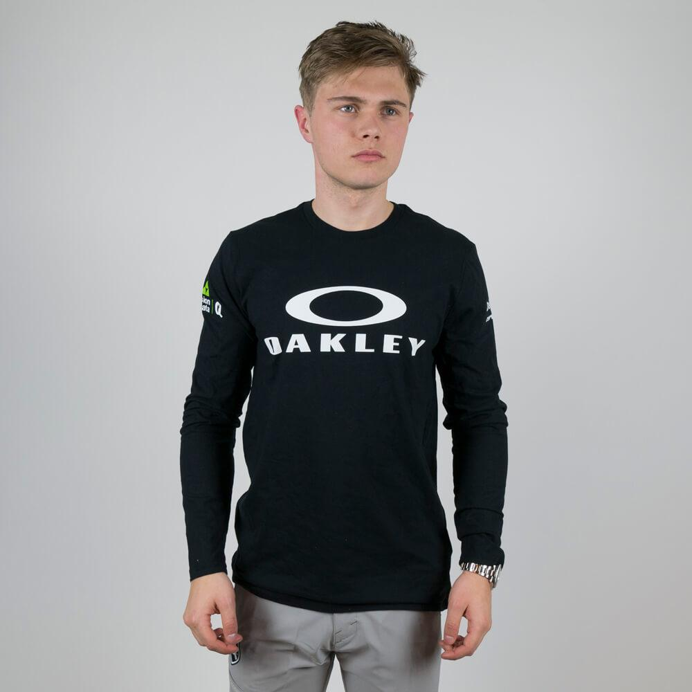 Oakley Bark Repeat LS Tee Blackout - Dimension Data