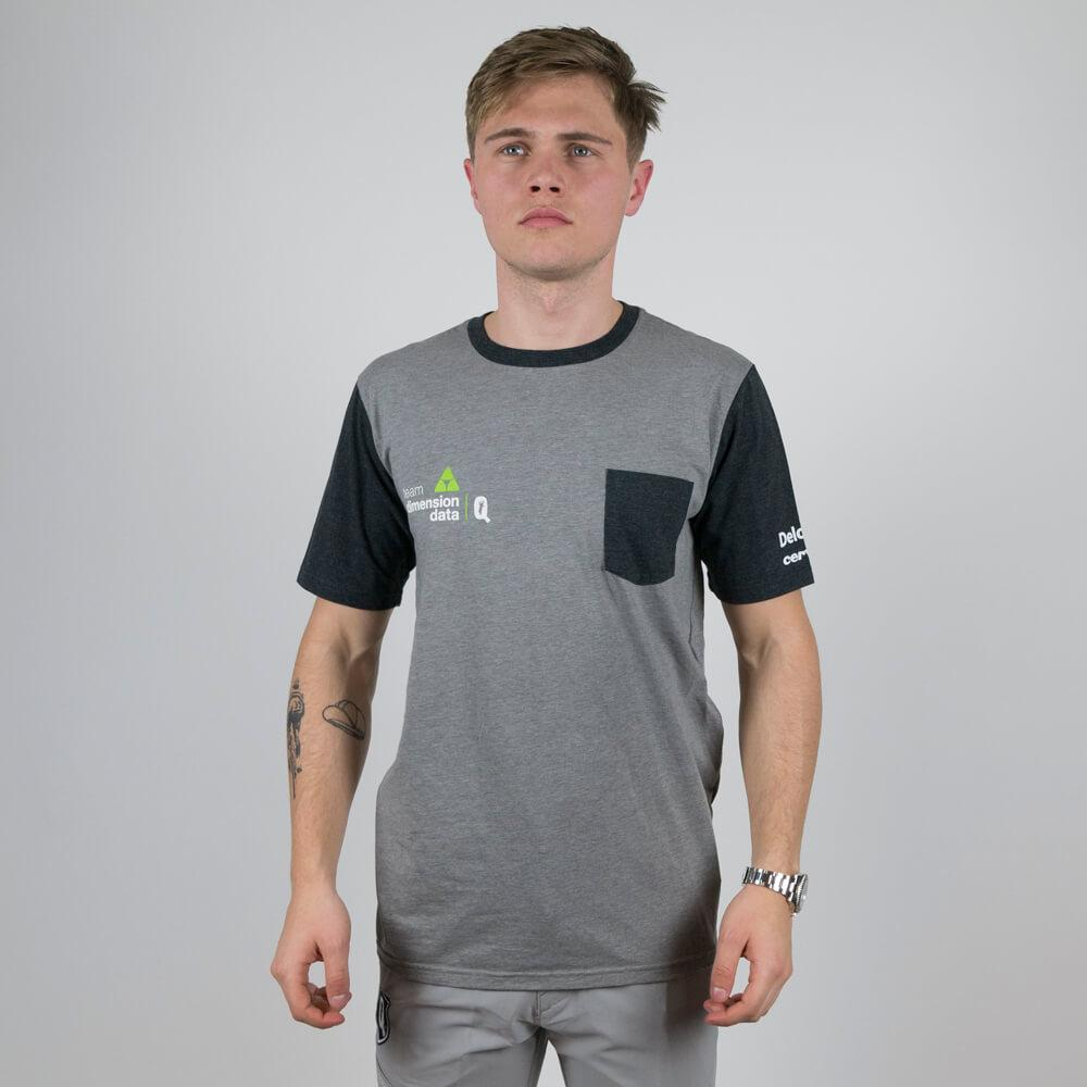 Oakley 50/50 Solid PKT T-shirt Heather Grey - Dimension Data