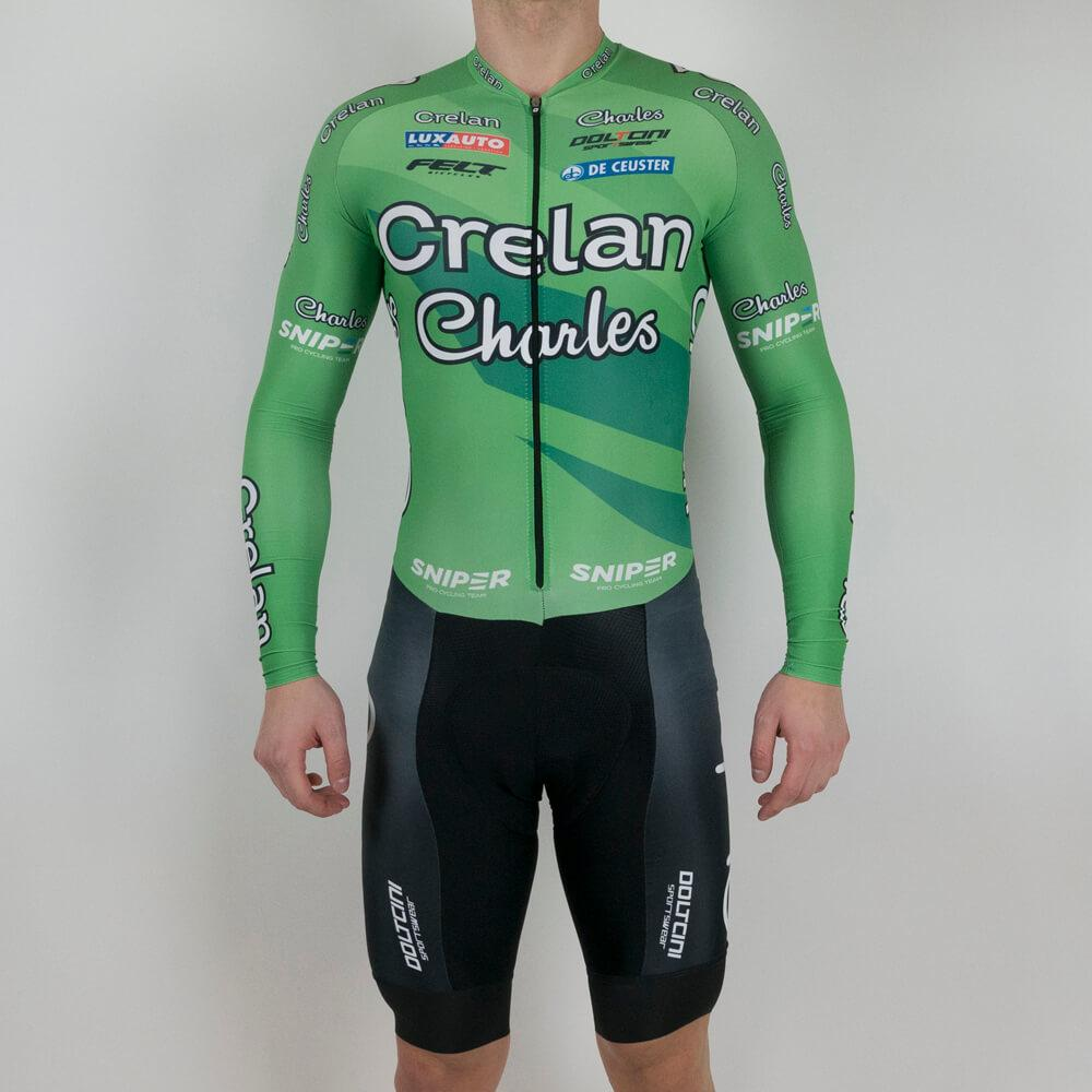 Skin suit LS Pro Cross - Veranda's Willems Crelan