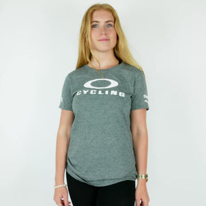 "Oakley T-shirt Grey ""Cycling"" Hydrolix - Womens - Dimension Data"