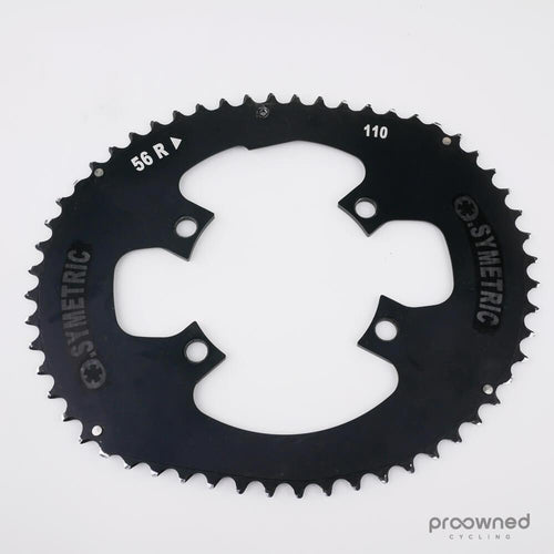 O.Symetric Outer Chainring - 110 BCD - 4 Bolt - Black