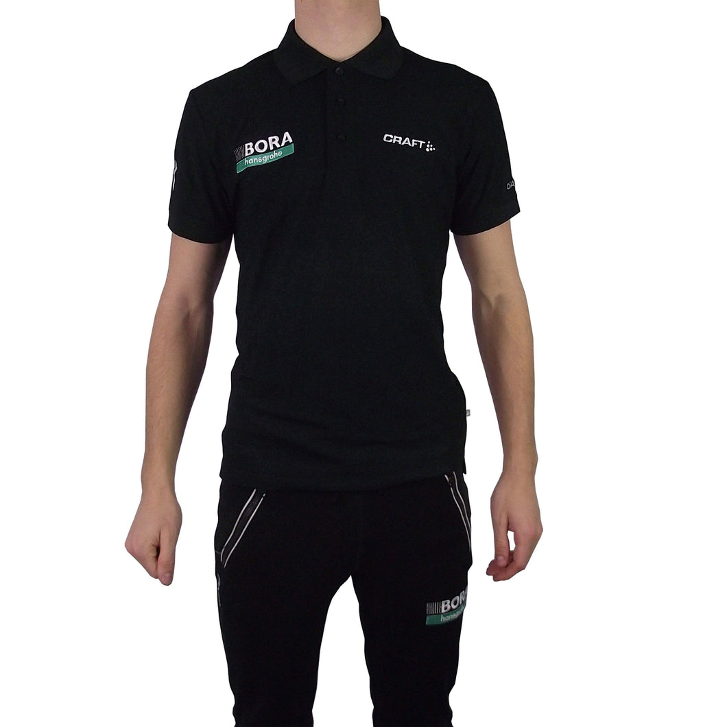 CRAFT Polo Pique Classic Bora Hansgrohe black