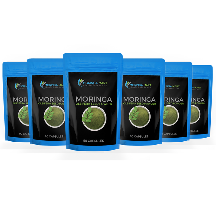 Bundle 6 Month Supply of Moringa Oleifera Capsules & SAVE 35%