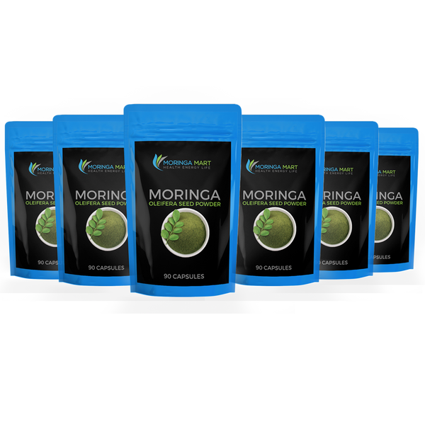 Bundle 6 Month Supply of 100% Organic Moringa Oleifera & Save Even More