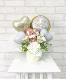 HAPPYBIRTHDAY  Heart  Flower Bouquet (Ivory)【税込】