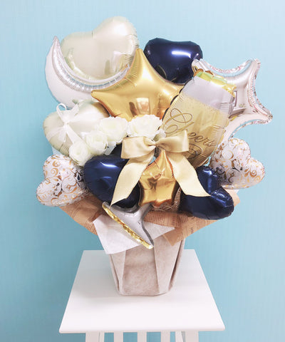Congratulations! Bouquet (Gold×Navy)