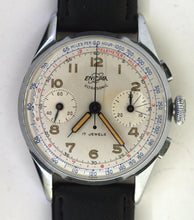ENICAR Ultrasonic 1005 USSAF Pilots 2 Registrar Chronograph Serviced