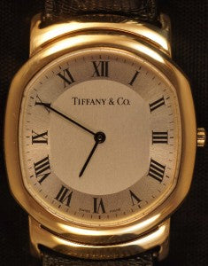 Tiffany & Co. Mark Coupe Resonator 18k Yellow Gold Mens Quartz Watch