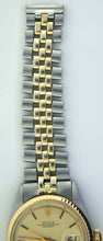Rolex Mens 14k SS Datejust Watch 1601 Linen Dial c 1970