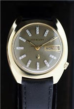 Bulova Accutron 14K Sold Gold with Diamond Tic Dial Day-Date 1972 N2 Watch