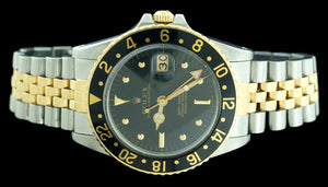 Rolex GMT Master 16753 18k Yellow Gold & Stainless Steel