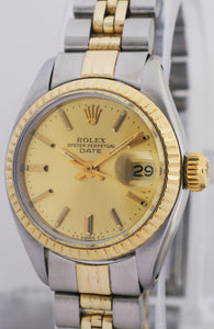 Rolex Date 14k Yellow Gold & Stainless Steel Ladies Automatic Watch 6917