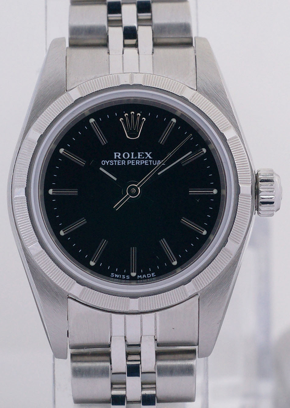 Rolex Non-Date Stainless Steel Ladies Automatic Watch Index Bezel 76030