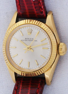 Rolex Non-Date 18k Yellow Gold Ladies Automatic Watch 6619