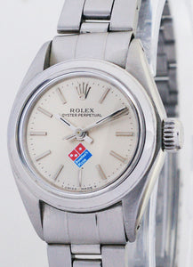 Rolex Non-Date Stainless Steel Ladies Automatic Watch 6718 Dominos Dial
