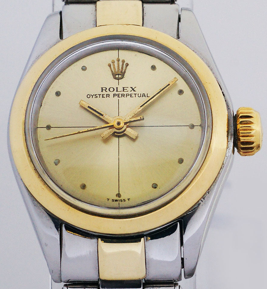 Rolex Non Date 14k Yellow Gold & Stainless Steel