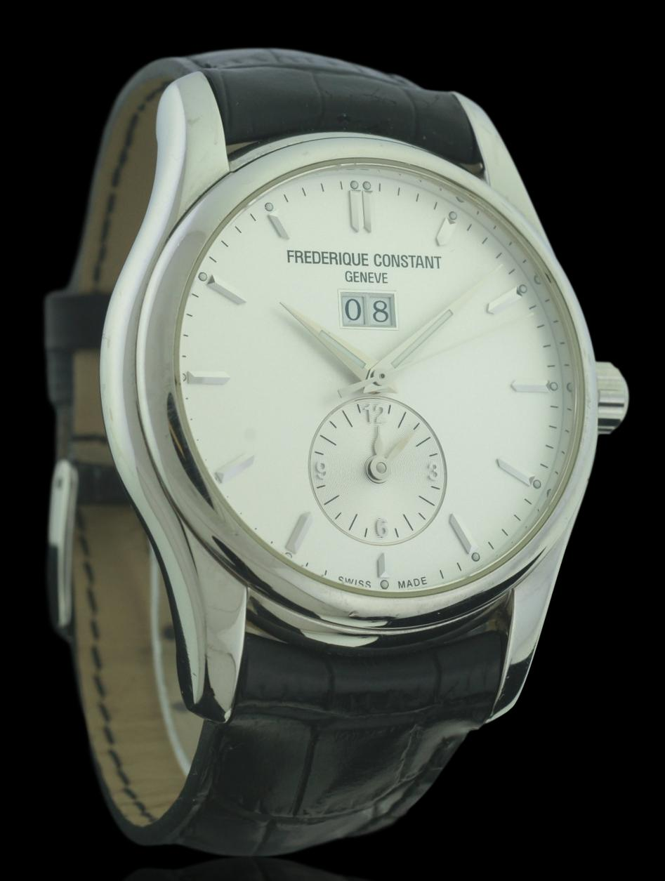 Frederique Constant Dual Time 42mm Stainless Steel