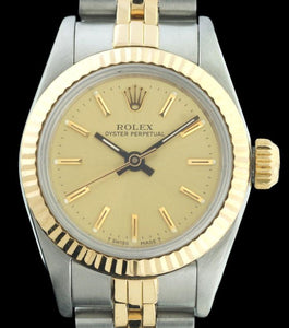 Rolex Non-Date 18k Yellow Gold/Stainless Steel Ladies 67193