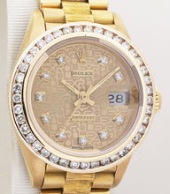 Rolex President Datejust 18k Yellow Gold Ladies Watch Jubilee Diamond Dial & Bezel 69178