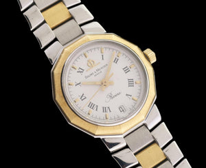 Baume & Mercier Riviera 5231 18k Yellow Gold & Stainless Steel Ladies Quartz Watch