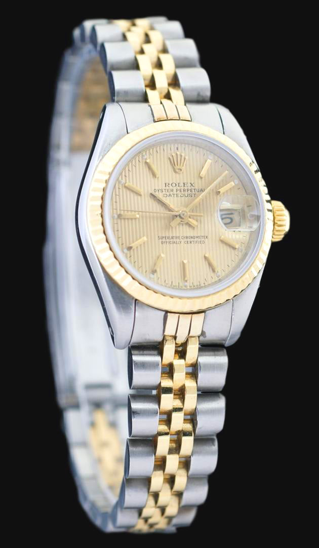 Rolex Datejust 18k Yellow Gold & Stainless Steel Automatic Ladies Watch 69173