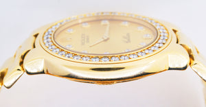Rolex Cellini 18k Yellow Gold Watch Diamond Bezel & Dial