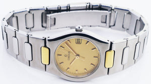 Concord Freedom 18k Yellow Gold & Stainless Steel Ladies Quartz Watch